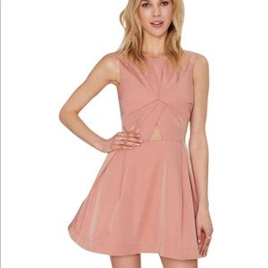 NASTY GAL Blush Cut Out Dress XXS
